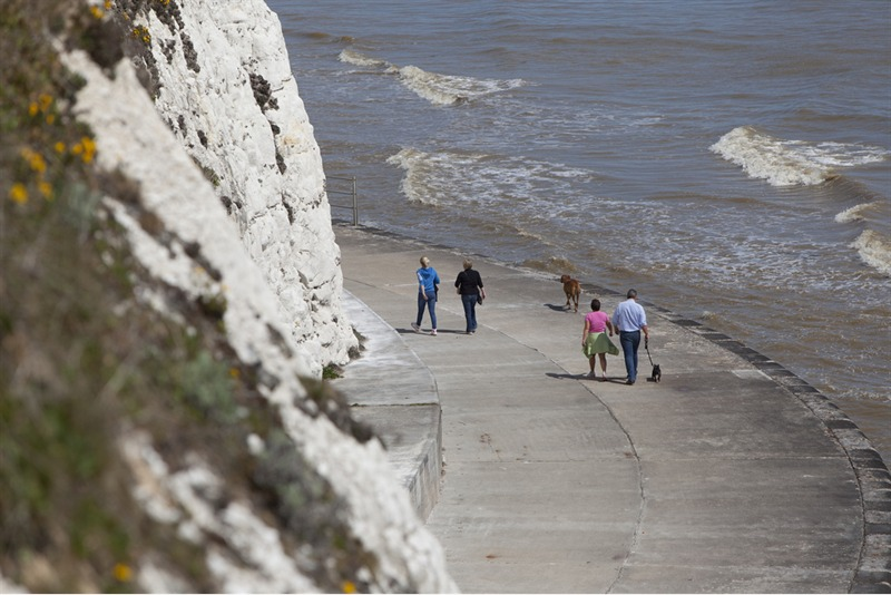 walking on the Kent coast